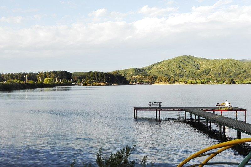 Fotografía de Megasequía repercute en el nivel de agua del Lago Rapel