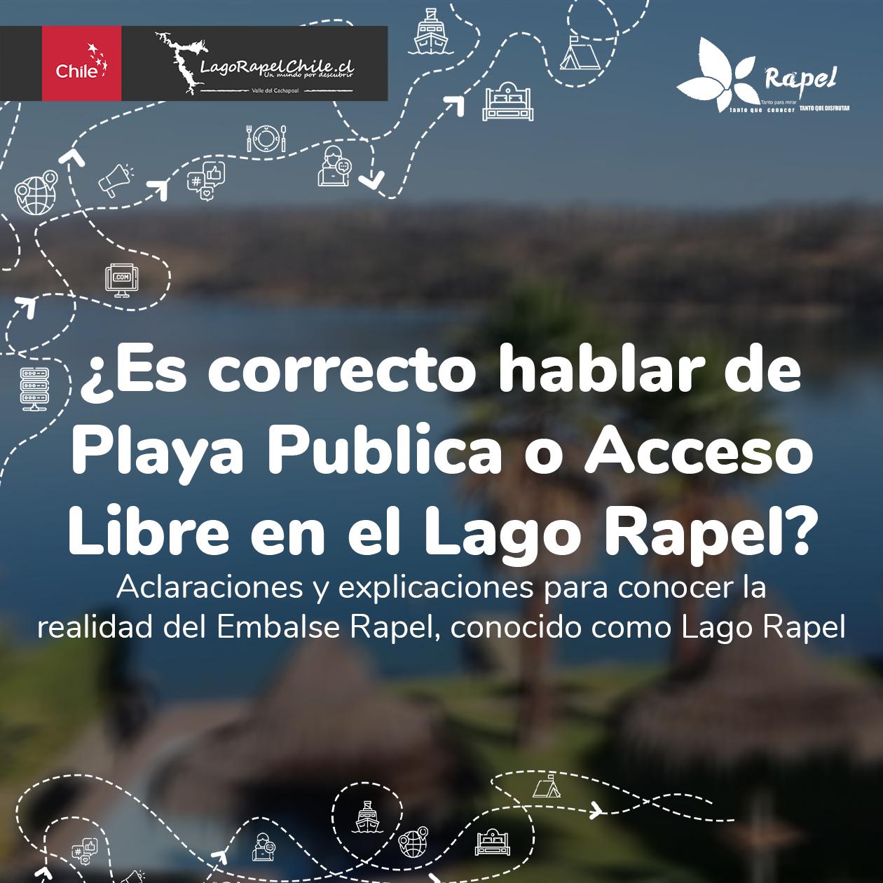 Fotografía de ¿Es correcto hablar de Playa Pública o Acceso Libre en el Lago Rapel?